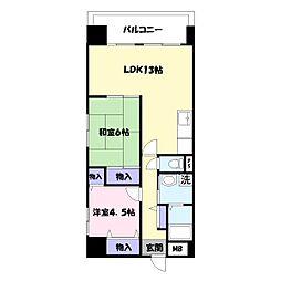 グランメェル435[2階]の間取り