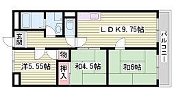 兵庫県明石市大道町1丁目の賃貸マンションの間取り