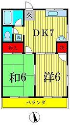 アドミナル6号棟[1階]の間取り