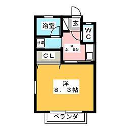 チェリー鶴里[2階]の間取り