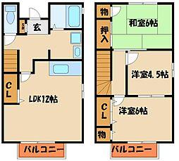 [タウンハウス] 兵庫県神戸市西区二ツ屋1丁目 の賃貸【/】の間取り
