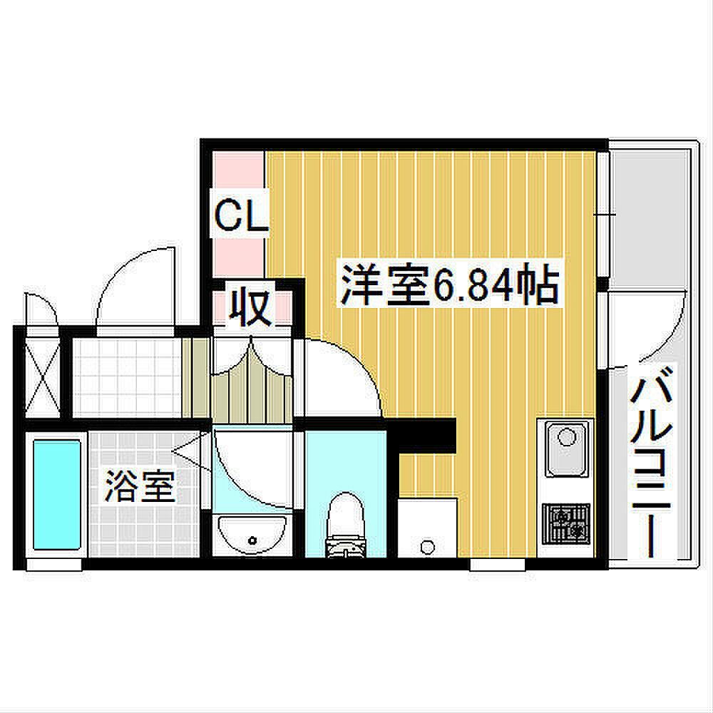 間取り(駅まで徒歩1分のデザイナーズマンション)