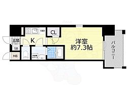 JR東海道・山陽本線 岸辺駅 徒歩5分の賃貸マンション 3階1Kの間取り