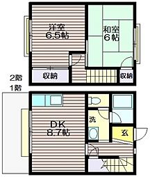 [テラスハウス] 東京都三鷹市新川4 の賃貸【/】の間取り