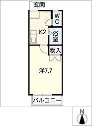 シングル弥生[1階]の間取り
