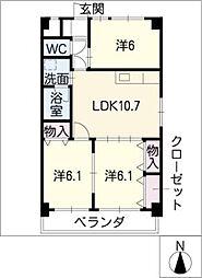 GRACIA II[3階]の間取り
