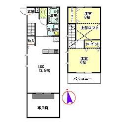[テラスハウス] 東京都葛飾区東水元4丁目 の賃貸【/】の間取り