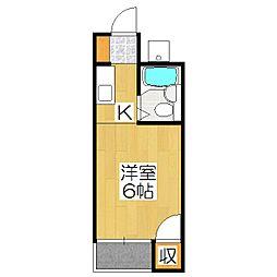 プチシャトー紫野[3階]の間取り