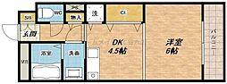 マンション一心堂[3階]の間取り