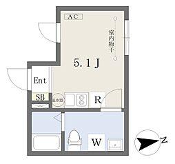 シャルメーヌ経堂 4階ワンルームの間取り