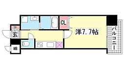 ピアグレース神戸[303号室]の間取り