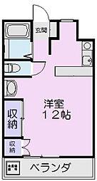 マンションYAMADA A[15号室]の間取り