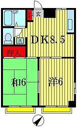 ベルマンション[3階]の間取り