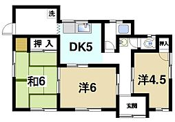[一戸建] 奈良県生駒市西松ケ丘 の賃貸【奈良県 / 生駒市】の間取り