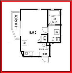 東京都墨田区京島1丁目の賃貸アパートの間取り