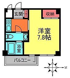 東京都調布市上石原1丁目の賃貸マンションの間取り