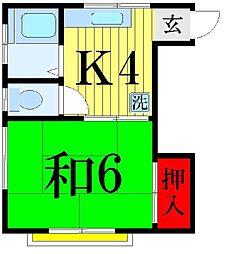 鈴木コーポ[302号室]の間取り