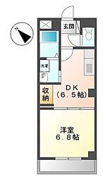 千葉県流山市市野谷の賃貸アパートの間取り
