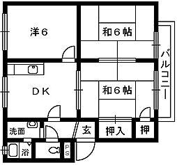 フレグランス浜寺[1階]の間取り