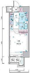 JR総武線 浅草橋駅 徒歩5分の賃貸マンション 8階1Kの間取り