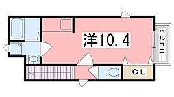 メゾン・アラモード[202号室]の間取り
