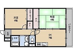 城東グリーンマンション[7階]の間取り