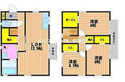 [テラスハウス] 岡山県岡山市北区今8丁目 の賃貸【/】の間取り