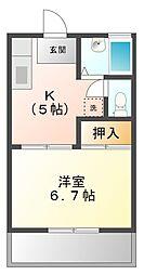 コスモ学文殿[2階]の間取り