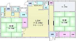 ハイツ広瀬 1階2LDKの間取り