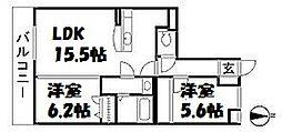 ファミーユM's[3階]の間取り