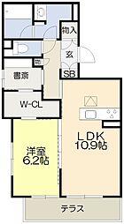 仮称・吹田市シャーメゾン岸部中3丁目PJ 1階1SLDKの間取り