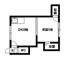プチ麻生III[2号室]の間取り