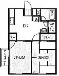 パークサイドハイツ[2階]の間取り