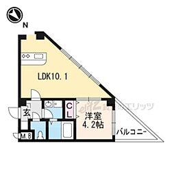 Satsuma-1st 3階1LDKの間取り