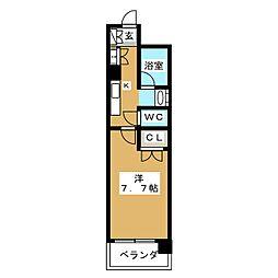 ベラジオ四条大宮[10階]の間取り