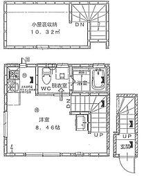 東京都江戸川区松島2丁目の賃貸アパートの間取り