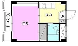 キジヤ千舟ビル[507 号室号室]の間取り