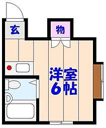 ケントピア本中山[D203号室]の間取り