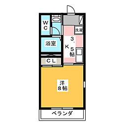 コスメルI[2階]の間取り