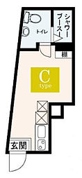 JR山手線 大塚駅 徒歩5分の賃貸マンション 5階ワンルームの間取り