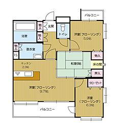第5ケイコーマンション[9階]の間取り