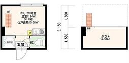 マノンフラット浅草橋[2階]の間取り