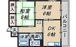 クレール桜塚[1階]の間取り