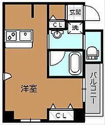 TKアンバーコート宿院[804号室]の間取り