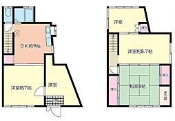 [一戸建] 神奈川県横浜市港北区大曽根1丁目 の賃貸【/】の間取り