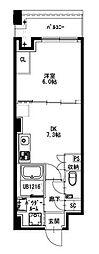 都営新宿線 曙橋駅 徒歩5分の賃貸マンション 5階1LDKの間取り