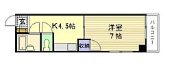 広島県広島市南区皆実町6丁目の賃貸マンションの間取り