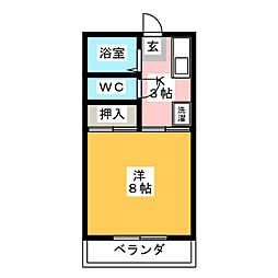 フレグランス豊盟 B棟[1階]の間取り
