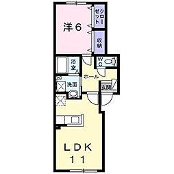 北海道旭川市大町二条5丁目の賃貸アパートの間取り