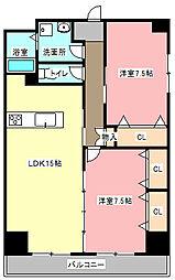 MPX番館[5階]の間取り